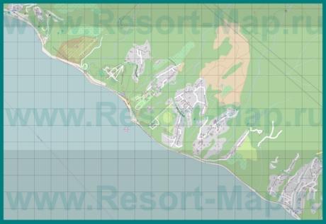 Подробная карта курорта Вишневка