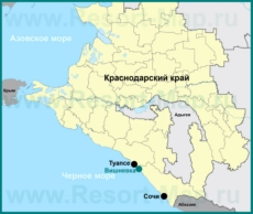 Вишневка на карте Краснодарского края