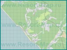 Подробная карта курорта Волконка