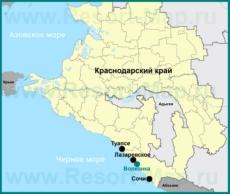 Волконка на карте Краснодарского края