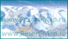 Карта горнолыжного курорта Кировск с трассами