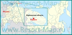 Кировск на карте России