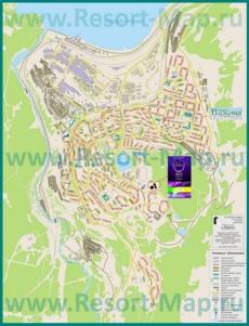 Подробная карта города Кировск