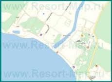 Подробная карта Криницы с улицами и домами