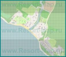 Подробная карта курорта Криница