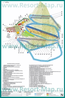 Карта горнолыжного курорта Кувандык с трассами