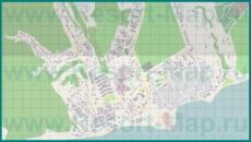 Подробная карта курорта Мысхако