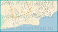 Подробная карта Мысхако с улицами и домами