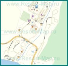 Подробная карта Небуга с улицами и домами