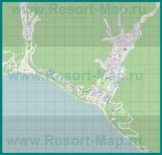 Подробная карта поселка Небуг