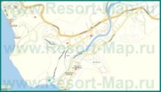 Подробная карта Новомихайловского с улицами и домами