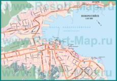 Карта дорог Новороссийска с автовокзалом и жд вокзалом