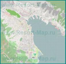 Подробная карта побережья Новороссийска