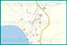 Подробная карта Ольгинки с улицами и номерами домов