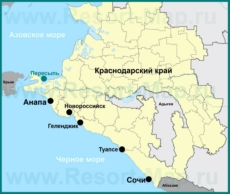 Пересыпь на карте Краснодарского края