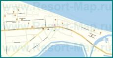 Подробная карта Пересыпи с улицами и гостиницами
