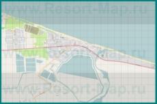 Подробная карта курорта Пересыпь