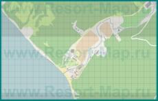 Подробная карта курорта Прасковеевка