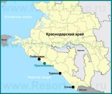 Прасковеевка на карте Краснодарского края