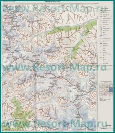 Подробная карта Приэльбрусья