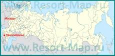 Приэльбрусье на карте России