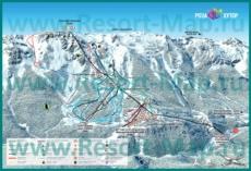 Карта склонов горнолыжного курорта Роза Хутор