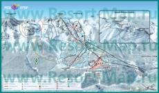 Подробная карта горнолыжного курорта Роза Хутор с трассами