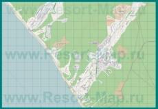 Подробная карта курорта Шепси