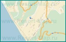 Подробная карта Шепси с улицами и домами