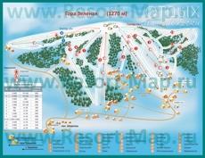 Карта гостиниц Шерегеша