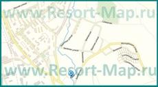 Карта поселка Шерегеш с улицами