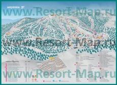 Подробная карта горнолыжного курорта Шерегеш с трассами