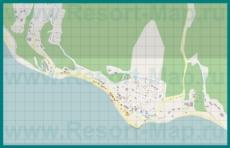 Подробная карта курорта Широкая Балка