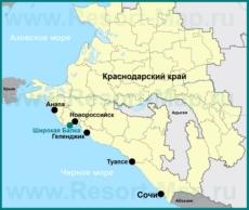 Широкая Балка на карте Краснодарского края