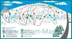 Карта склонов горнолыжного курорта Сорочаны