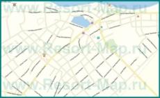 Подробная карта Тамани с улицами и номерами домов