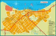Туристическая карта города Тамань