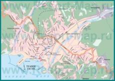Карта Туапсе с ЖД вокзалом
