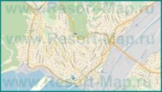 Подробная карта Туапсе с улицами и домами