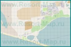 Подробная карта курорта Веселовка