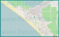 Подробная карта поселка Витязево