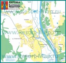 Подробная карта города Яхрома с улицами
