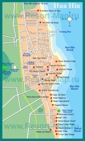 Карта отелей Хуа-Хина