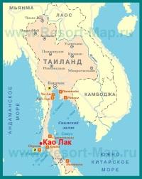 Као Лак на карте Тайланда