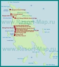 Карта отелей Ко Чанга
