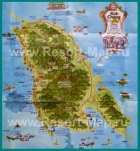Туристическая карта острова Ко Чанг