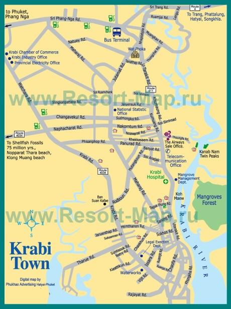 Карта города Краби