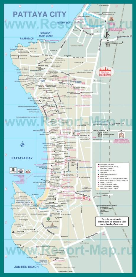 Карта города Паттайа