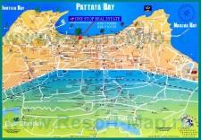 Подробная карта Паттайи с достопримечательностями