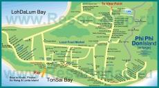 Карта острова Пхи-Пхи-Дон